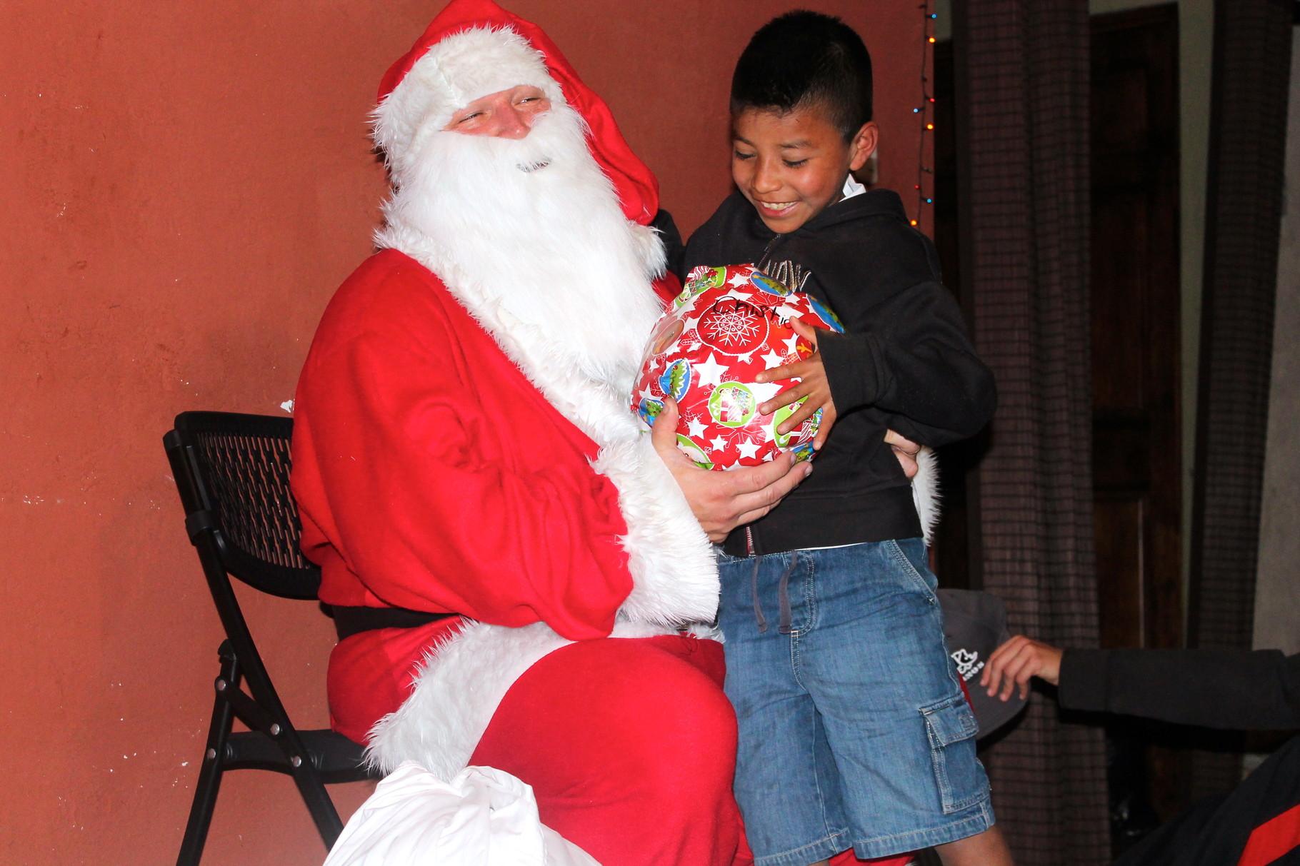christian with santa!