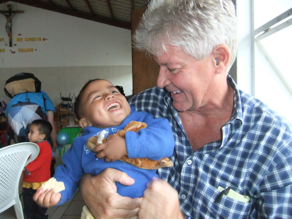 papa with danilo at the orphanage