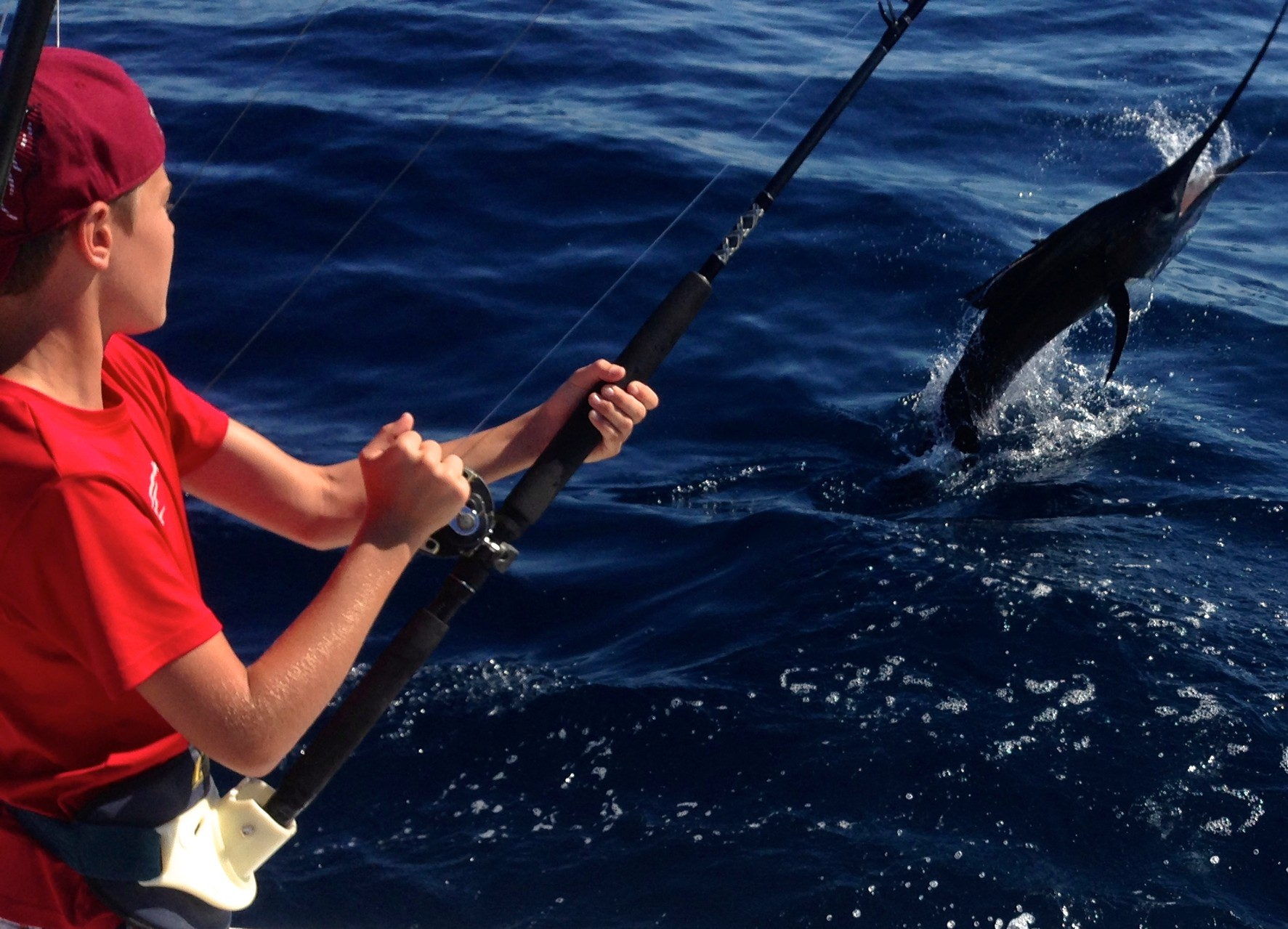 jake fighting a sailfish