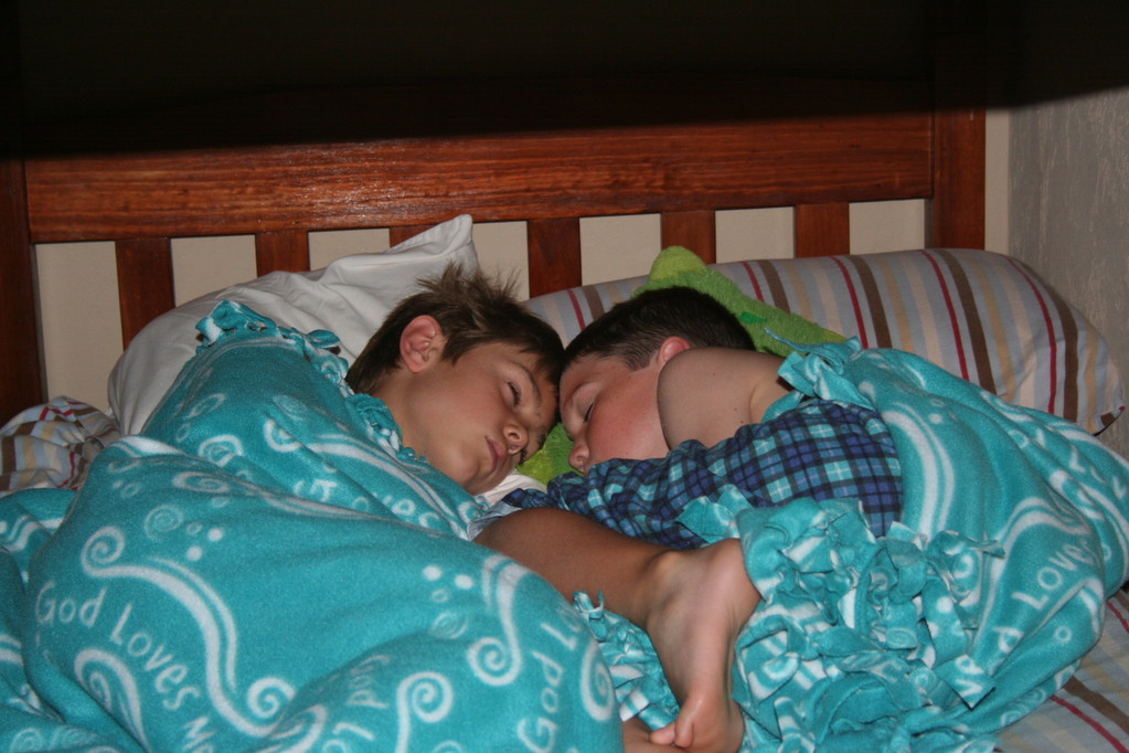 jake and connor sleeping