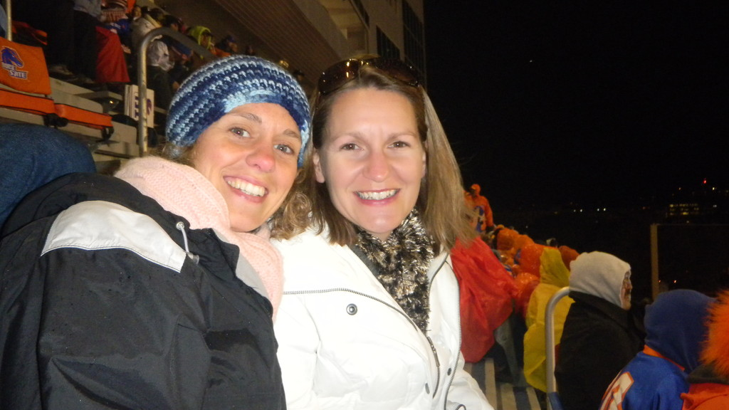 kerrie & brenda at the bsu game