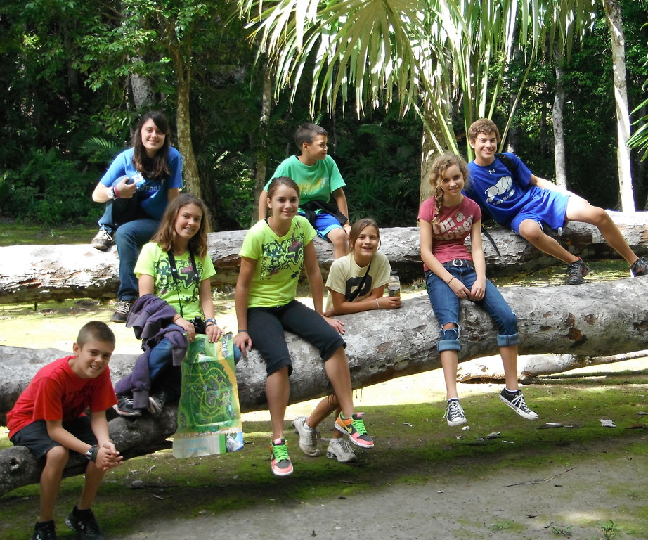 johnson, schmidt, and morea kids hanging out in tikal