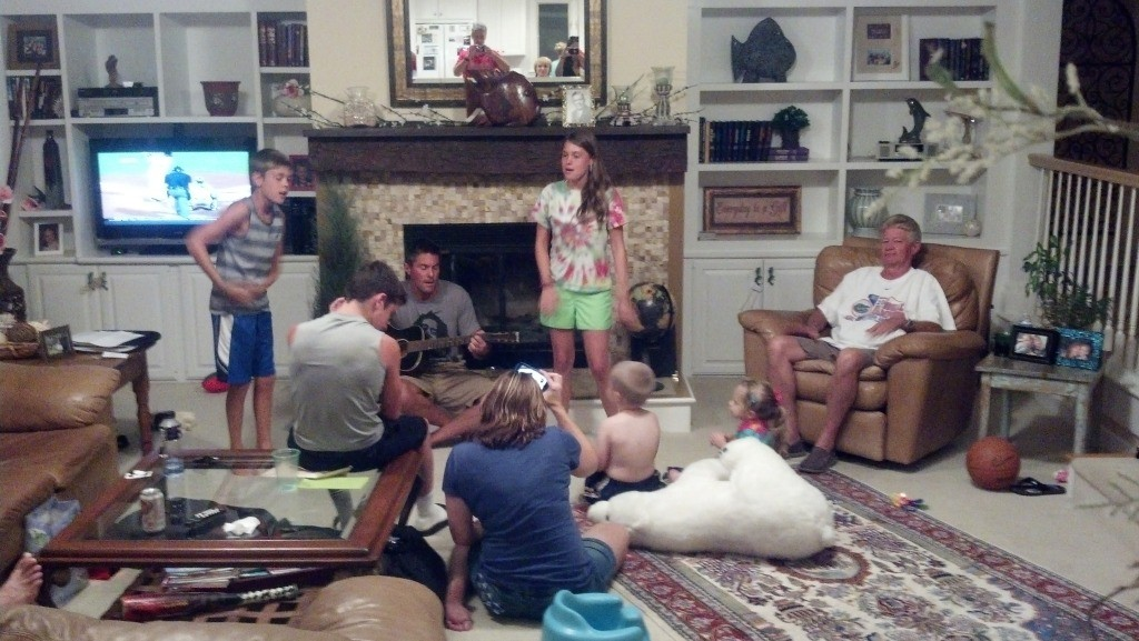 worship time with the nieces and nephews