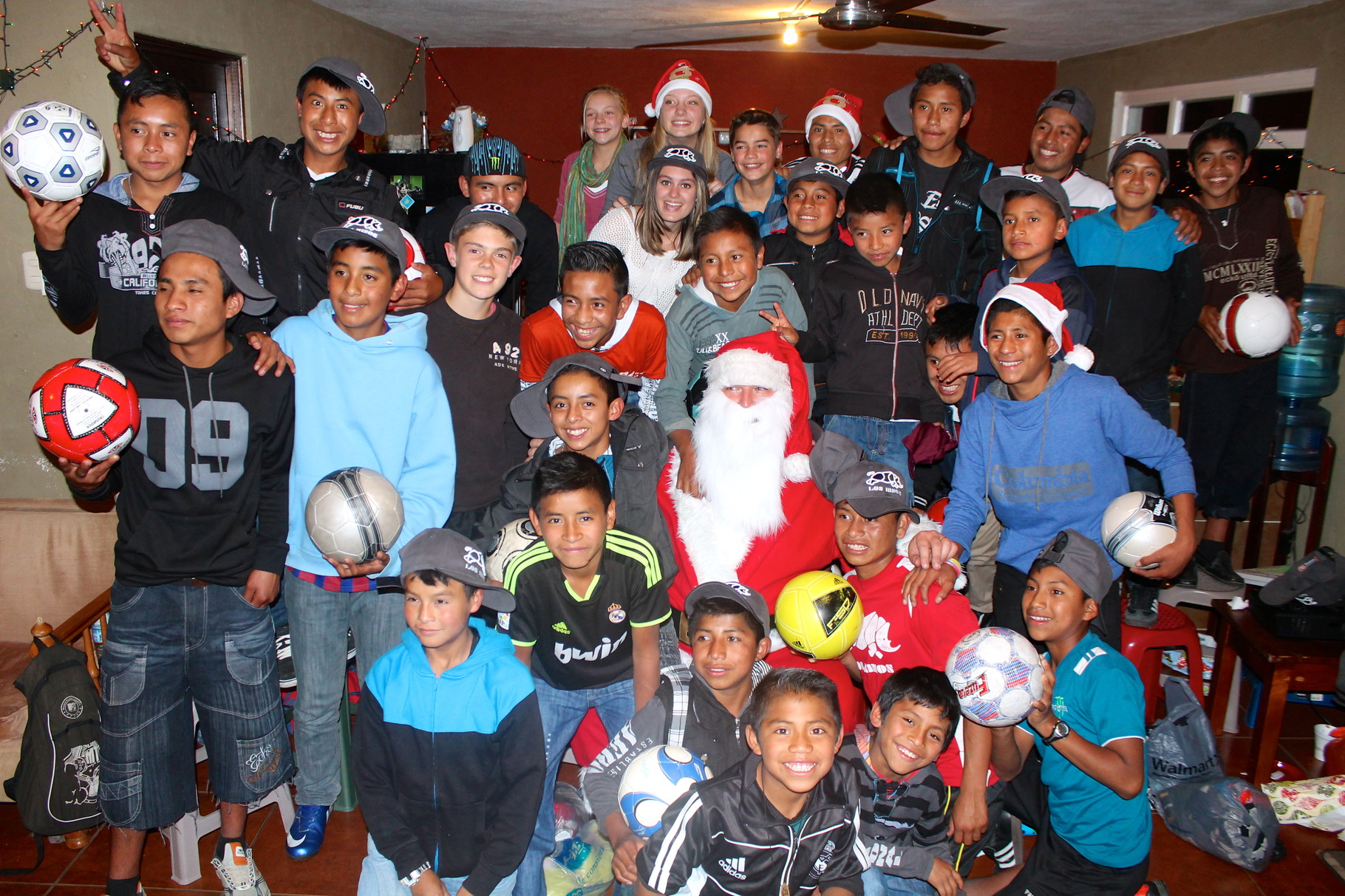 the rhinos with santa