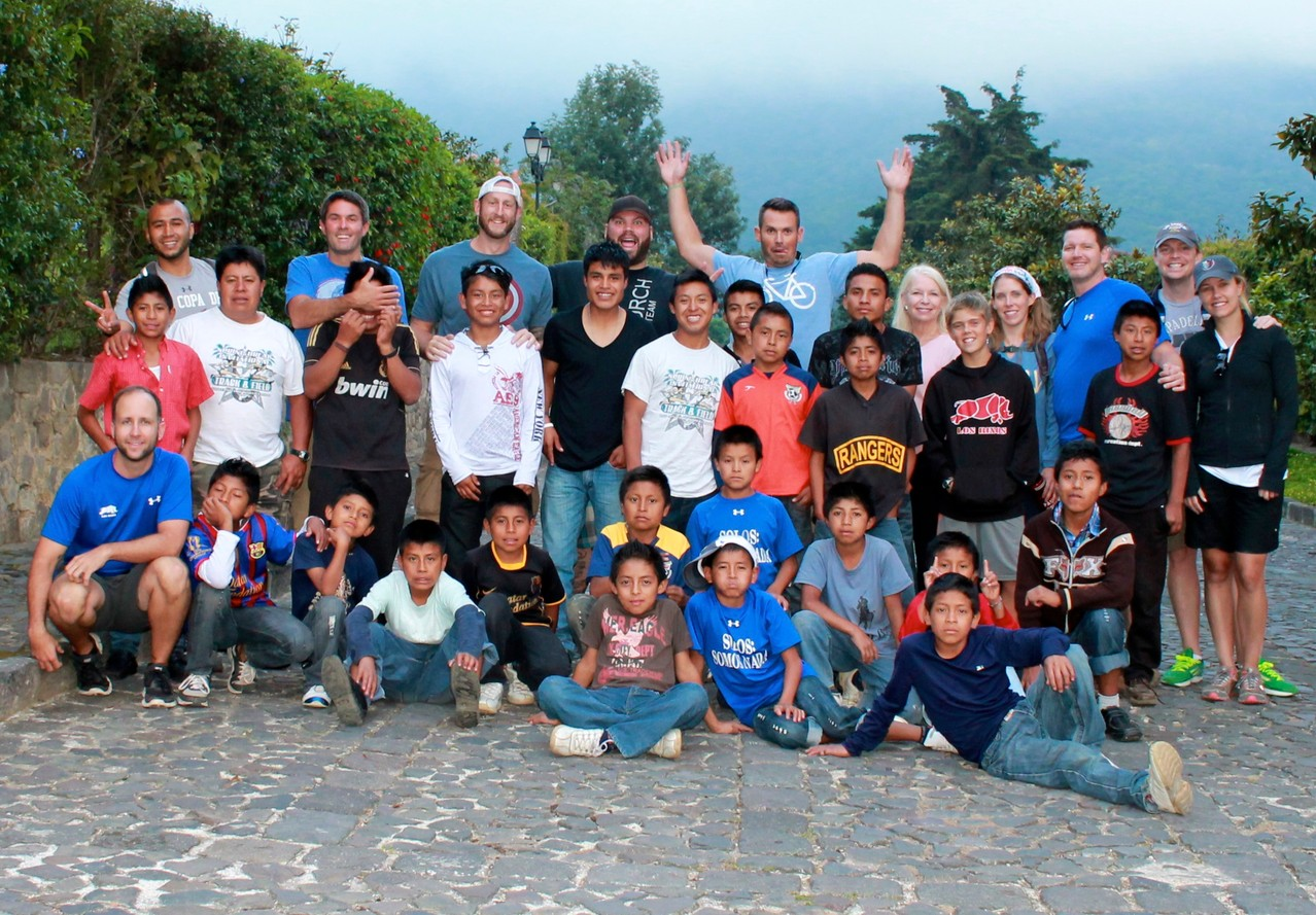 boys with the dunlap team at finca filadelfia