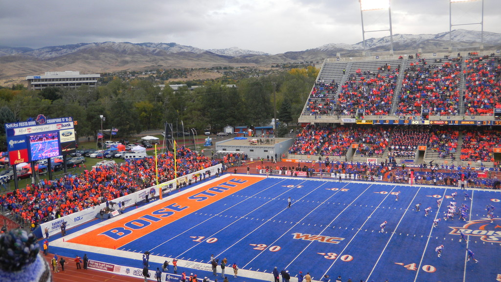 the beatiful venue of bronco stadium