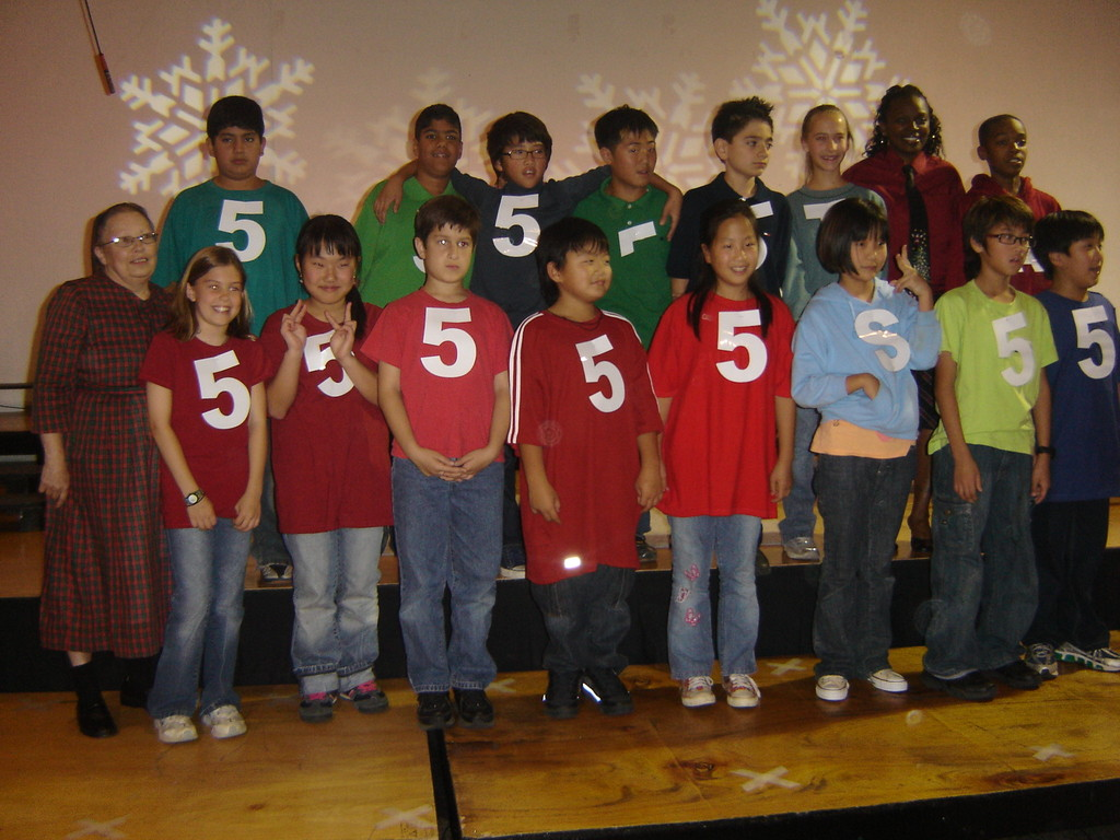 brooke's class at the school christmas play