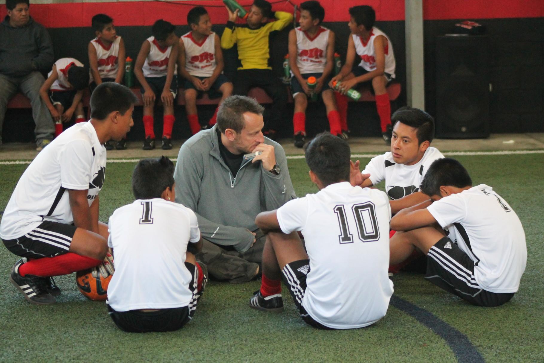 "paul coaching the ""blanco's"" in the rhino cup"