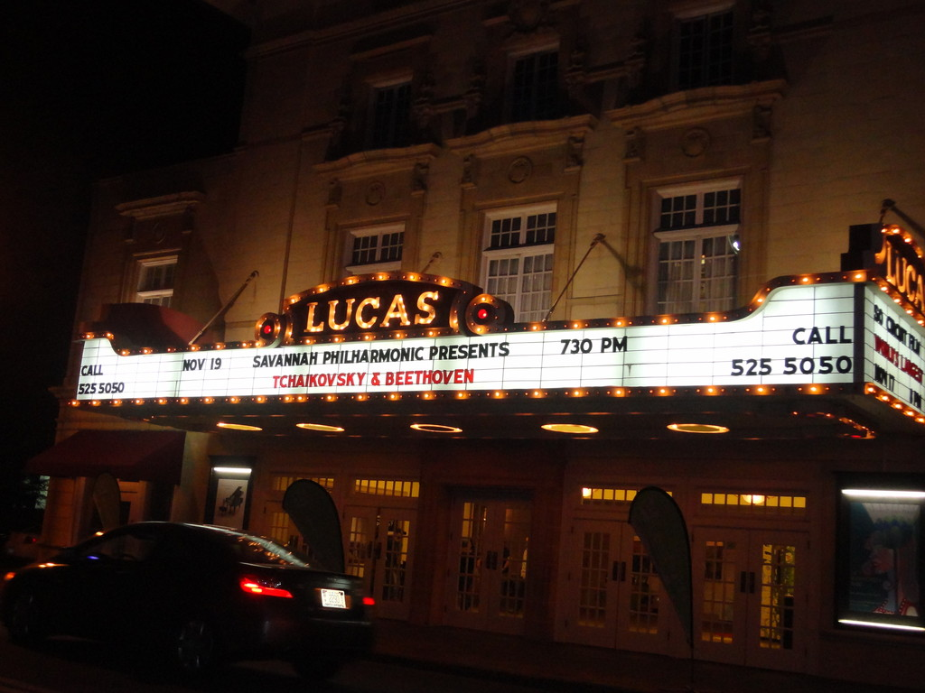 recent US trip: the lucas theatre - one of the venues brock shared while in savannah