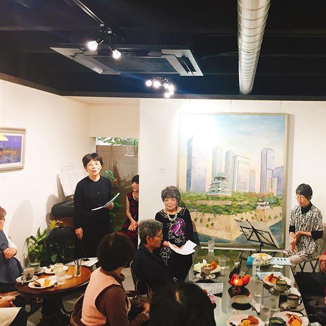 イベント「シャンソンを歌う」-画廊カフェ リトルギャラリー 大阪市住吉区長居の画廊カフェ-