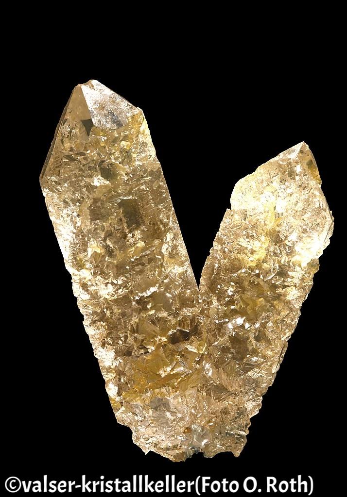 Angeätzter Bergkristall - Grimsel Schweiz