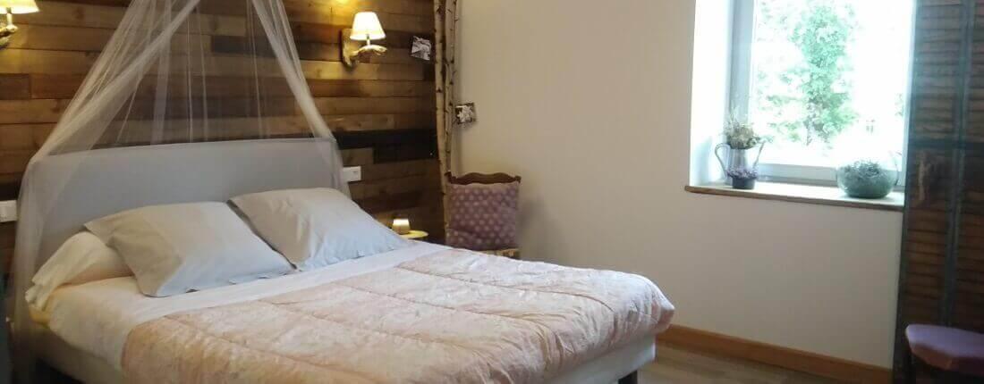 Chambre spacieuse et romantique