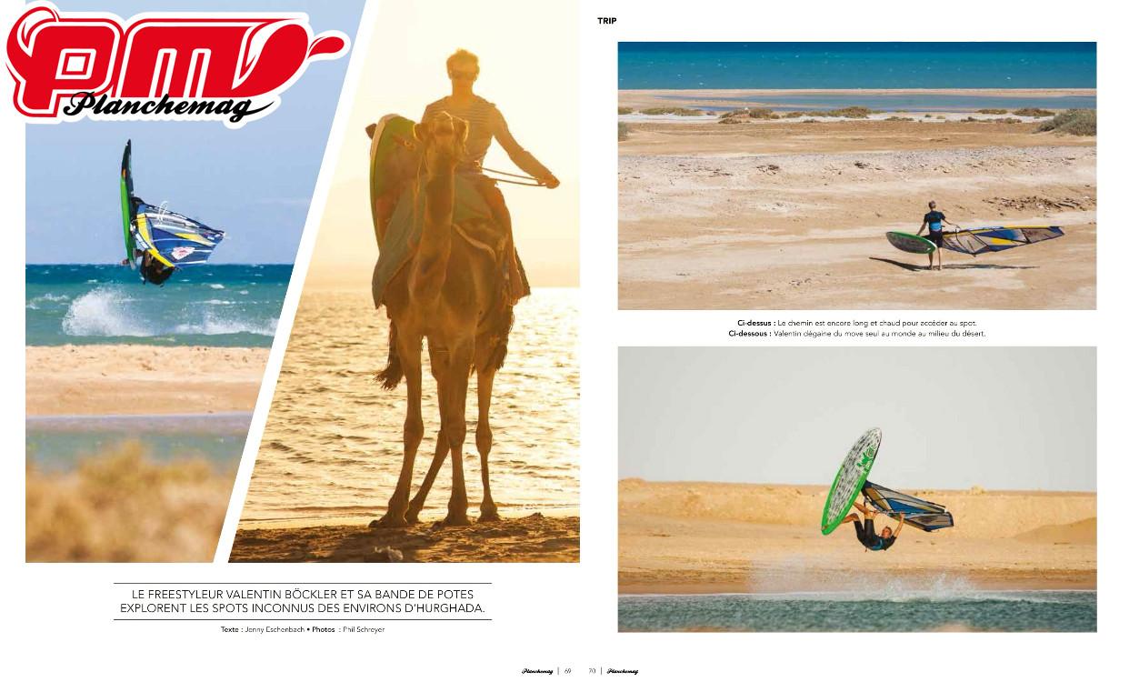Planchemagazin Frankreich, 8 seitiger Bericht über Ägypten Trip