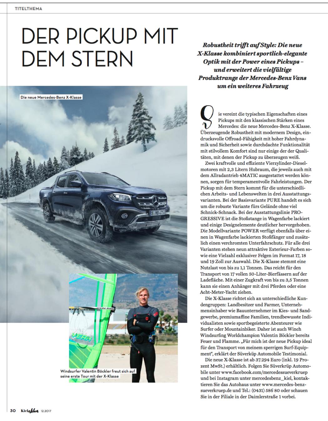 Kielerleben Mercedes X-Klasse Testimonial