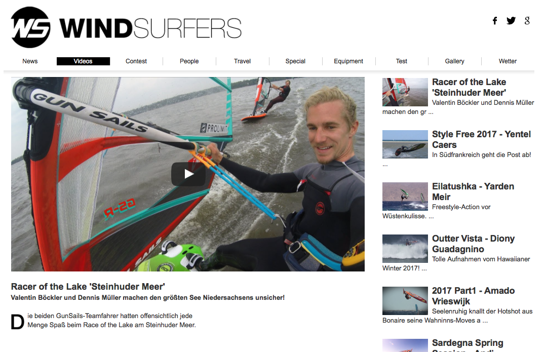 Windsurfers, Video Vlog