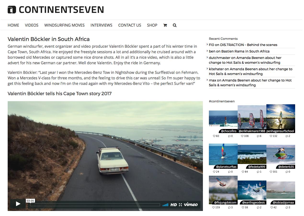 Continentseven, Capetown Video