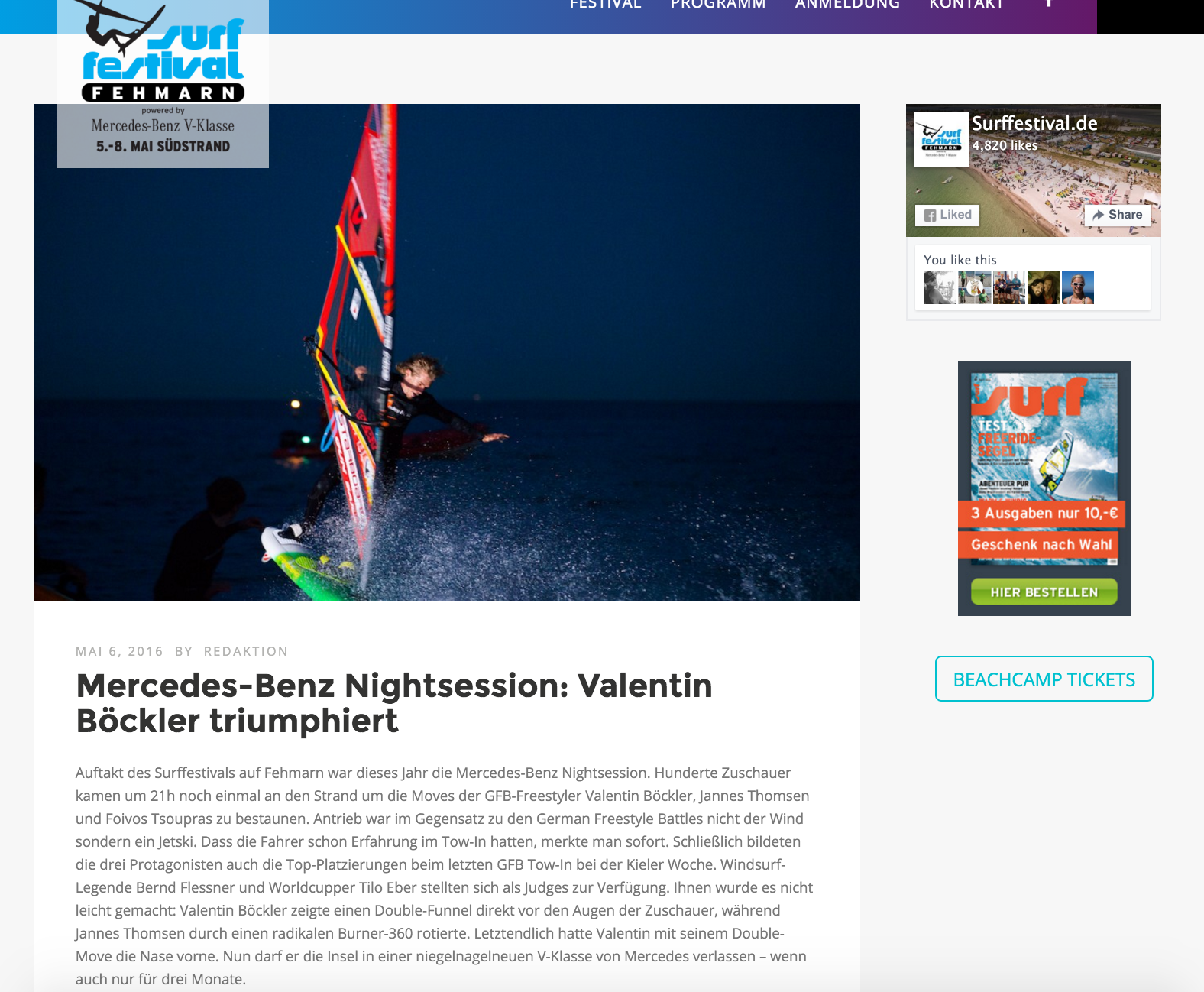 Surffestival, Sieger Mercedes Benz Towin Contest