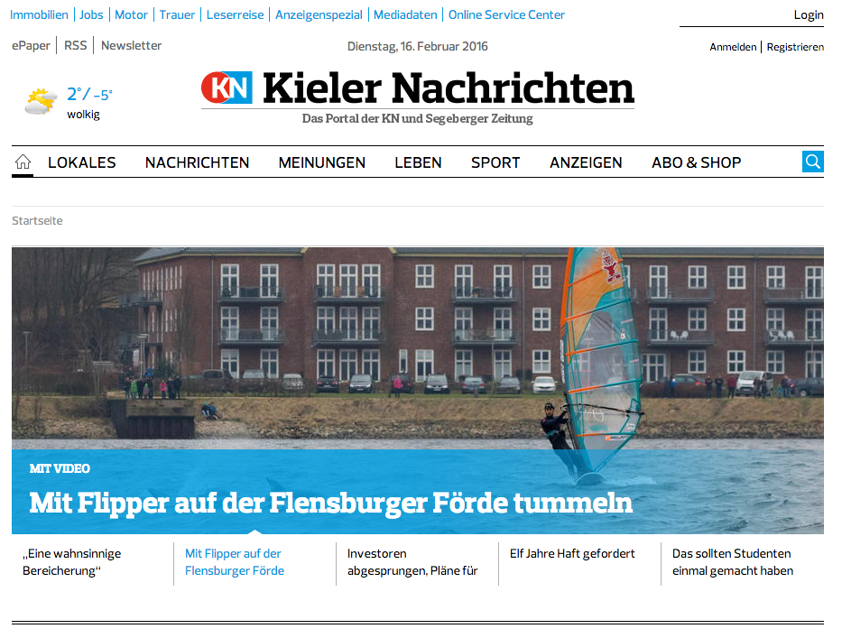 Kieler Nachrichten Cover
