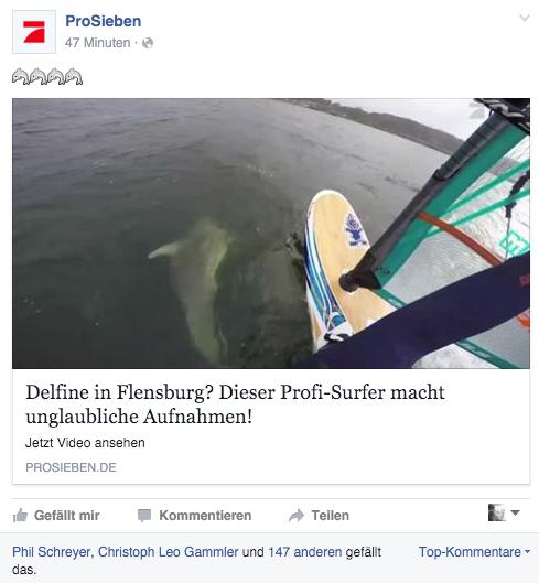 Prosieben Facebook + TV