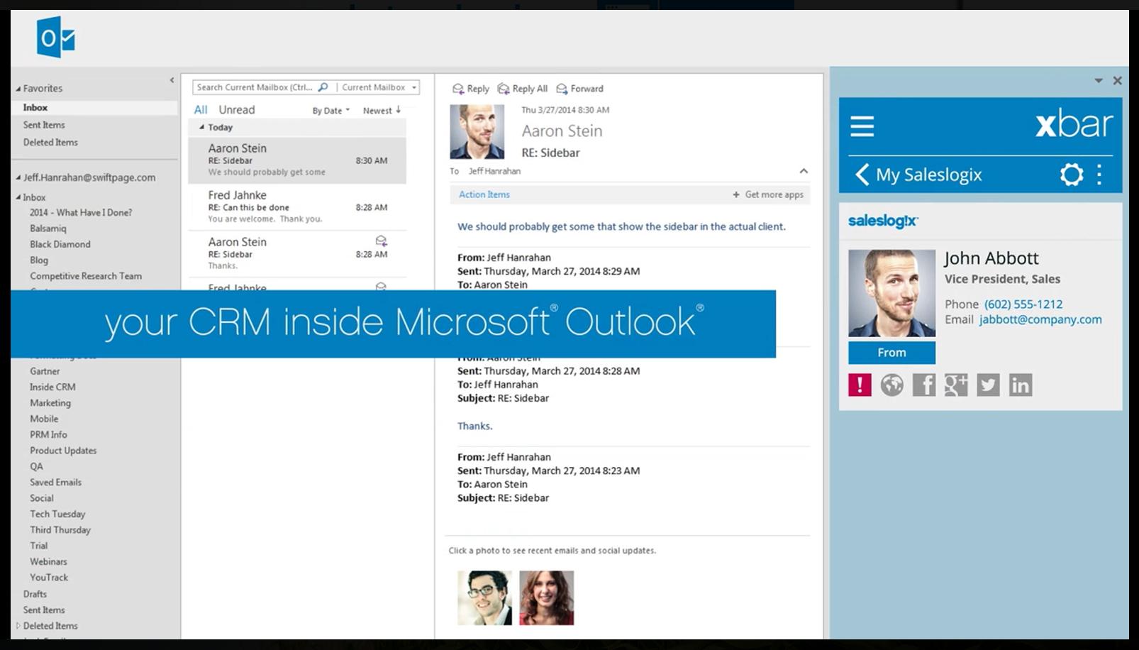 Ihr CRM innerhalb von Outlook