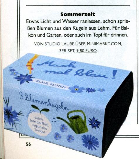 Nido, Geschenktip, nachhaltiges Geschenk, Gärtnern macht glücklich, Mach mal blau!
