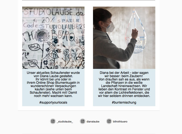 Chalk Maker, Windowillustration, Diana Laube, Fenster Bemalung