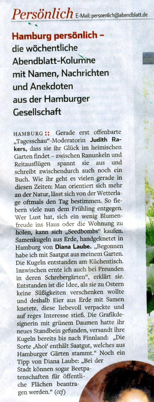 Zeitung, Tageszeitung, Diana Laube, Hamburger Abendblatt