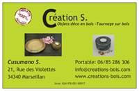 carte de visite Création S, Marseillan-Ville