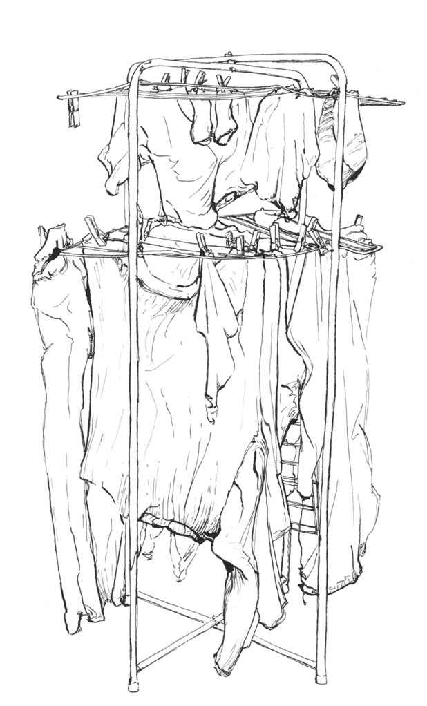 HangedUp (étude) - encre de chine sur papier, 25x42cm