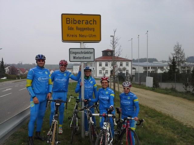 Biberach, 05.04.2014 - Transalpteam Radtreff-Biberach beim Training in Biberach