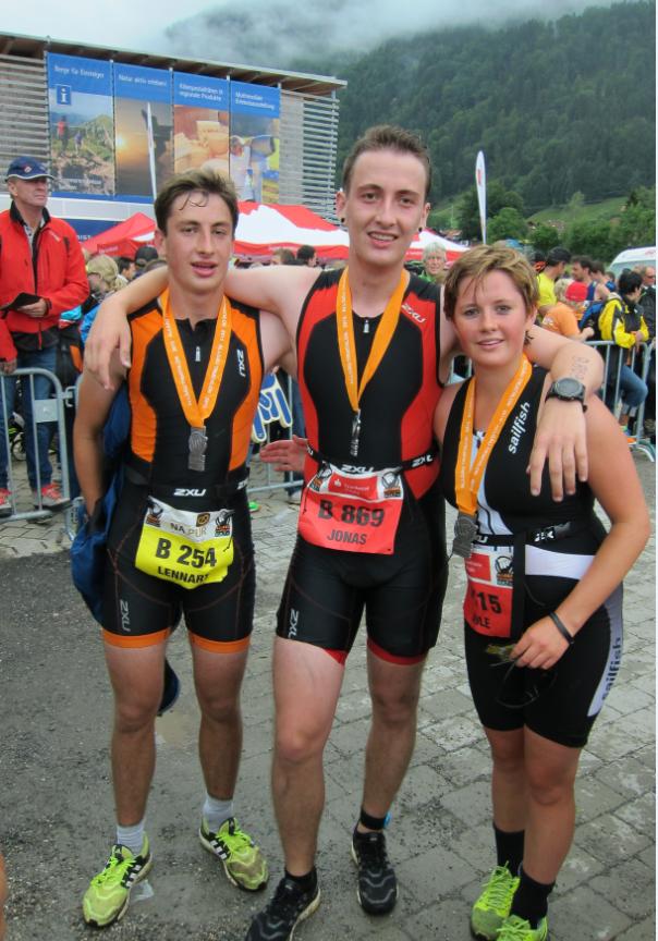 die Glorreichen 3 vom Radtreff Biberach auf der Sprint & Olympischen Distanz
