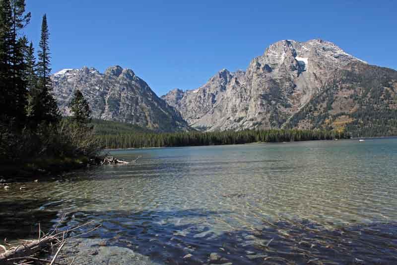 Bild 14 Der Pfad führt immer am Leigh Lake entlang, bis zu seinem Ende.