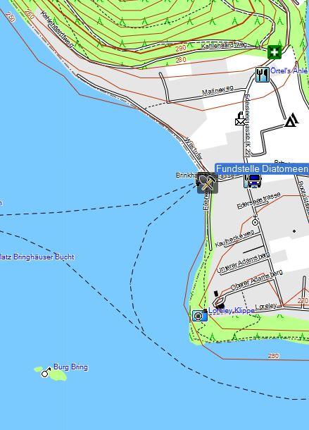 Bild 1 Sammelstelle für den Schlick aus dem die Diatomeen extraiert wurden - Kartenquelle: © OpenStreetMap-Mitwirkende
