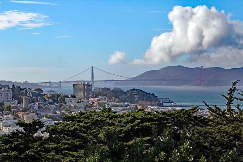 Bild 24 Blick auf die Golden Gate vom Coit Tower