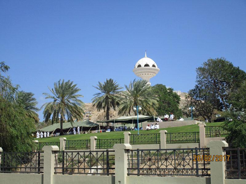 Blick auf den Park von Mutrah