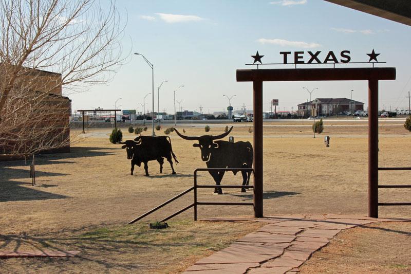Bild 20 Pause am ersten großen Info Zentrum in Texas