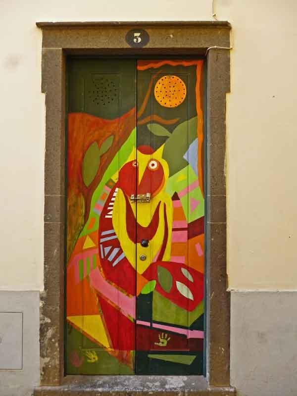 Bild 51 Tolle Haustürbemalungen in Funchal