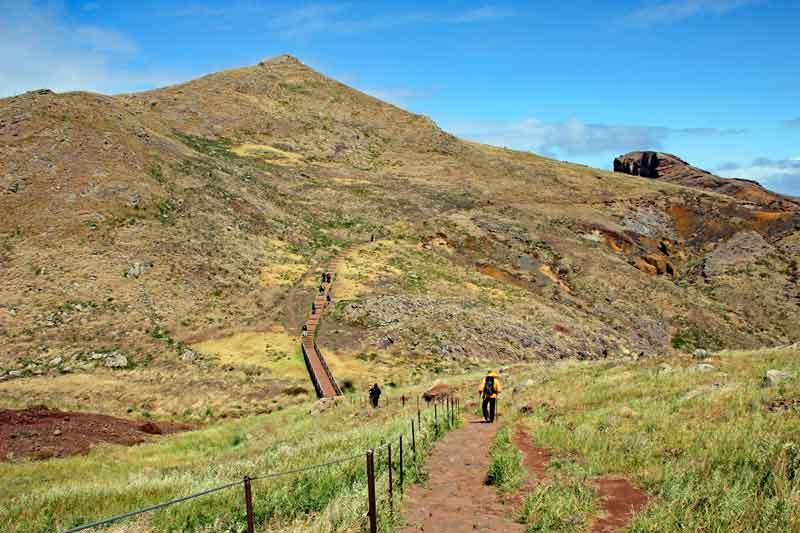 """Bild 7 Auf dem Weg zur östlichsten Spitze von Madeira dem """"Ponta de Sao Laurenco"""""""