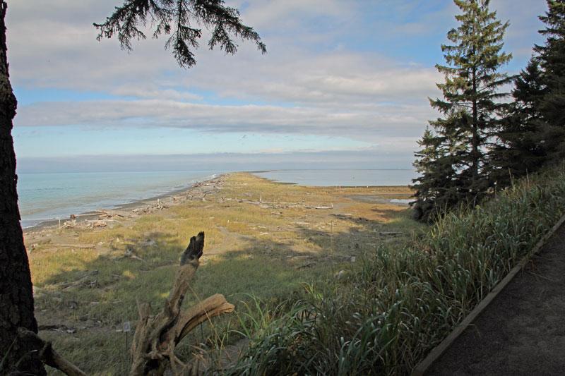Bild 19 Auf der Landzunge in Richtung Leuchtturm auf dem Dungeness Lighthouse trail