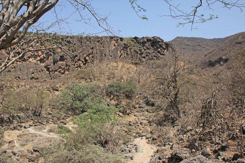 Bild 6 Im unteren nicht erschlossenen Teil des Wadi Darbat