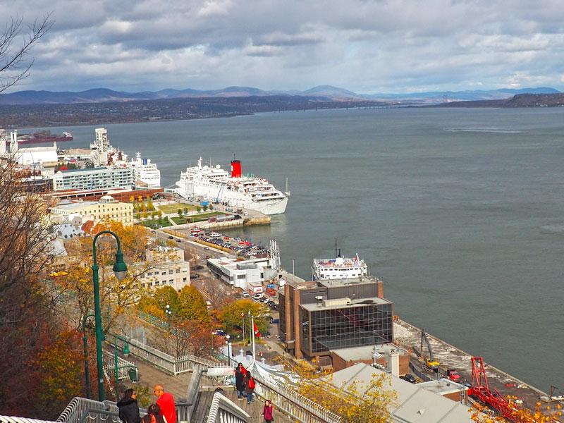 Bild 56 Bummel durch Quebec, Blick auf den St. Lorenz