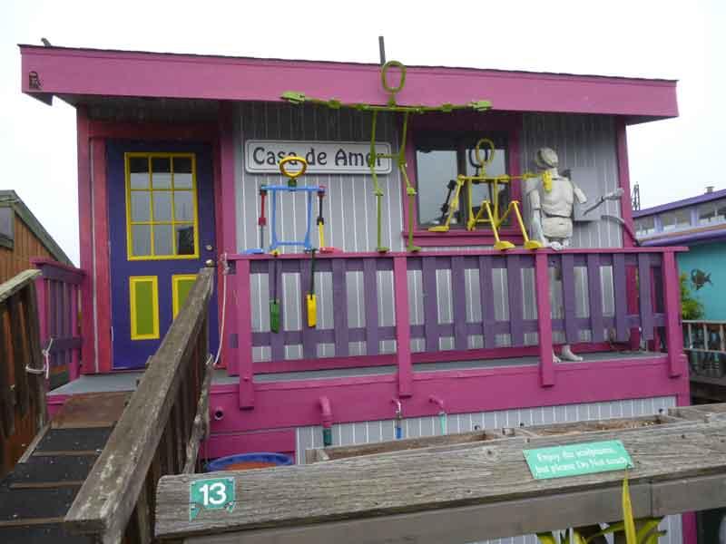 Bild 37 In der Hausbootsiedlung in Sausalito