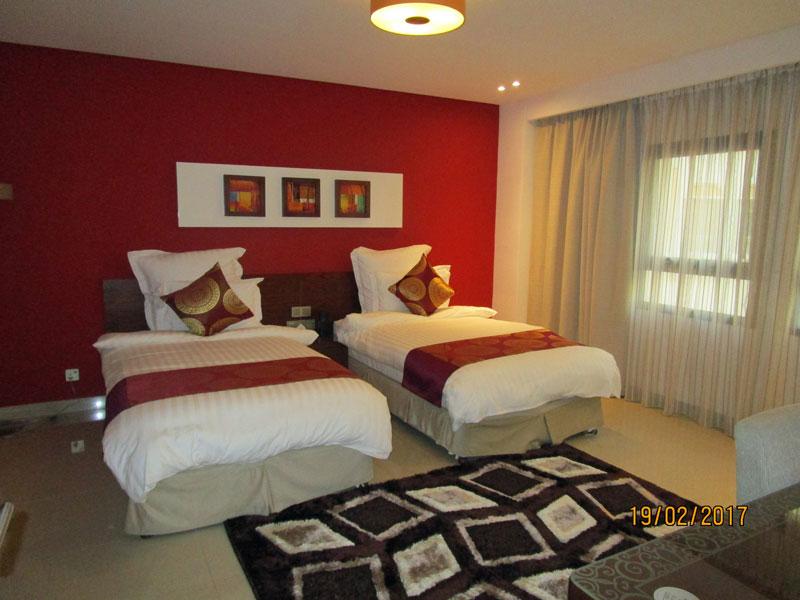 Schlafzimmer im Coral Hotel