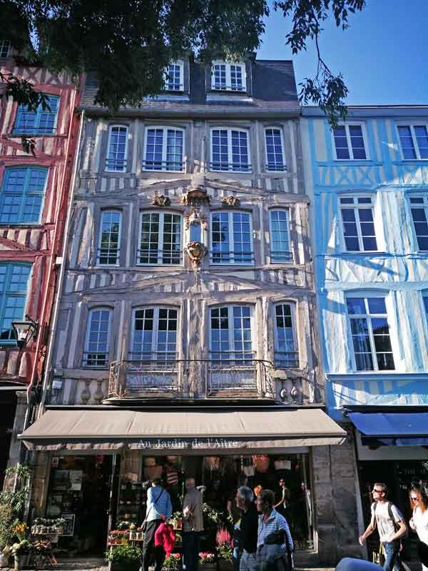 Bild 10 Unterwegs in den Straßen von Rouen