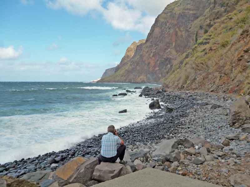 Bild 12 An der Felsenküsten von Jardim do Mar
