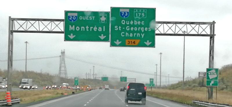 Bild 1 Auf der Fahrt in Richtung Quebec