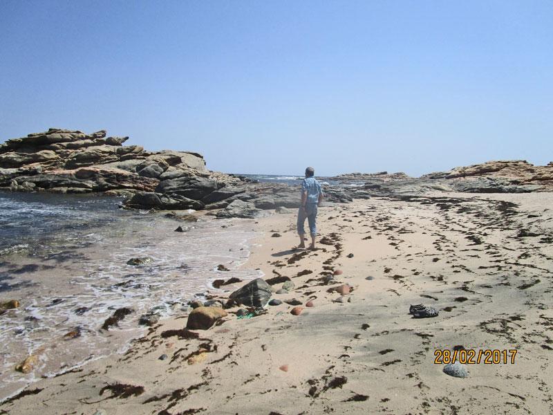 Bild 4 Pause und Füße baden auf dem Weg in Richtung Muscat