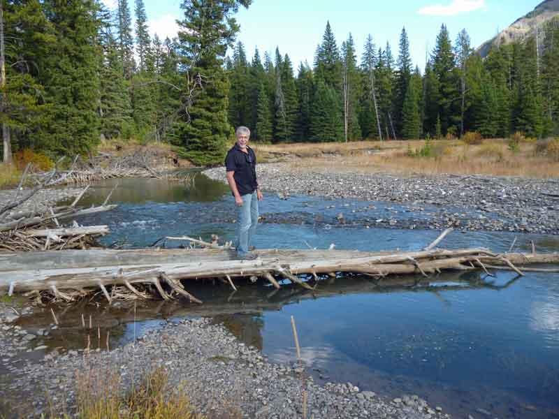Bild 11 Kleine Wanderung im Lamar Valley immer am Fluß entlang