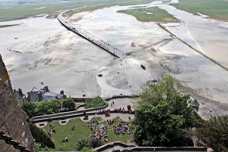 Bild 25 Blick von der Abtei auf das Watt und das Meer