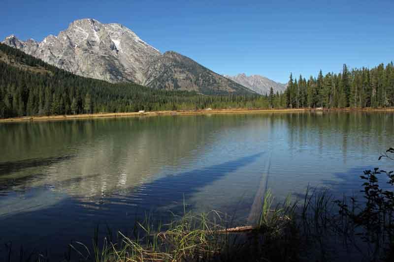 Bild 12 Der Pfad führt immer am Leigh Lake entlang, bis zu seinem Ende.